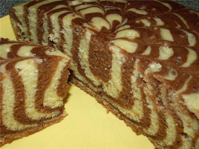 Торт зебра рецепт в домашних условиях