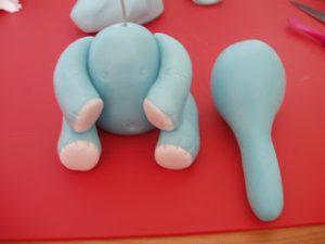 Фигурки из мастики: как сделать слона – мастер-класс-шаг 5