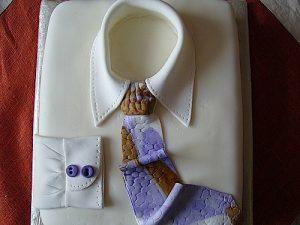 Торт Рубашка из мастики – замечательный торт для мужчины!-шаг 1