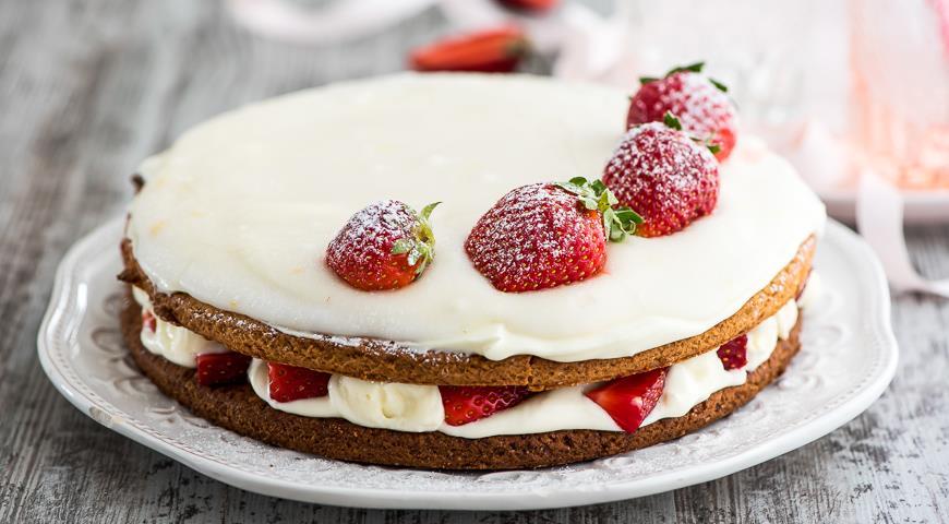 Простой тортик с клубникой рецепт