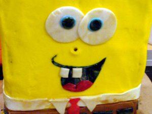 Торт Губка Боб для мальчика – мастер-класс-шаг 6