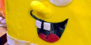 Торт Губка Боб для мальчика – мастер-класс-шаг 7