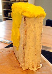 Торт Губка Боб для мальчика – мастер-класс-шаг 1