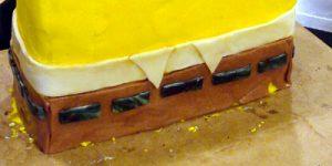 Торт Губка Боб для мальчика – мастер-класс-шаг 3