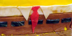 Торт Губка Боб для мальчика – мастер-класс-шаг 4