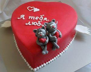 Торт на День Влюбленных -шаг 3