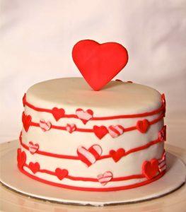 Торт на День Влюбленных -шаг 1