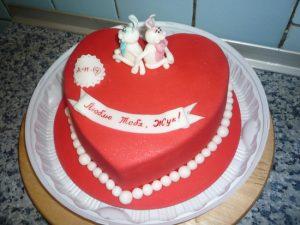Торт на День Влюбленных -шаг 2
