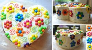 Торт Сердце для девочек-шаг 1