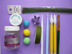 Цветы из мастики – делаем нежные незабудки: мастер-класс-шаг 1