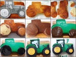 Торт машинка – как сделать Трактор-шаг 1