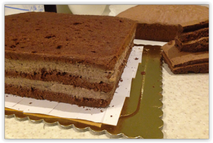 Торт для мальчика Паровозик Томас – мастер-класс-шаг 1