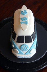 Торт машинка из мастики Автобус-шаг 5