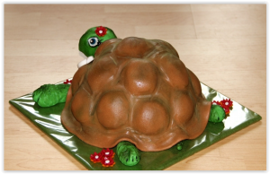 Торт из мастики – Черепаха: мастер-класс-шаг 8