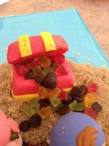 3D торт для мальчика Корабль пиратов-шаг 14