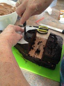 3D торт для мальчика Корабль пиратов-шаг 6