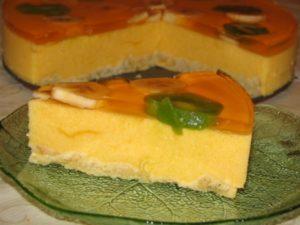 Лимонное суфле для торта