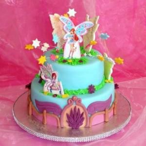 Торт феи Винкс – отличный подарок для девочки-шаг 2