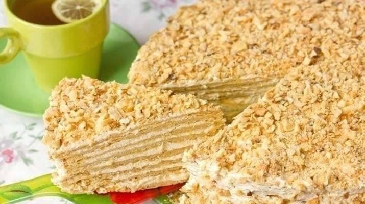 Очень вкусный торт наполеон